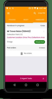 Attendant App Screen