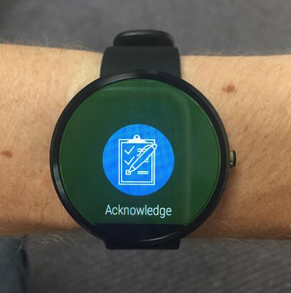CnC Android Watch Acknowledge