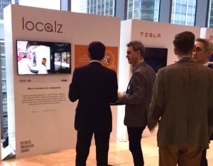 Lots of interest at the Localz stand