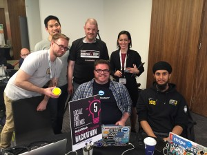 Localz Retail Week Hackathon Team with L J Rich from BBC Click
