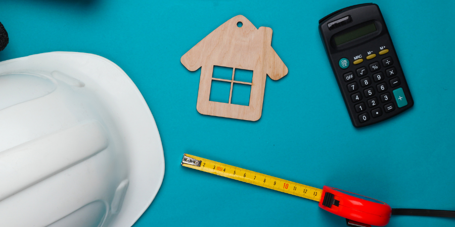 Property maintenance tools spread out on table