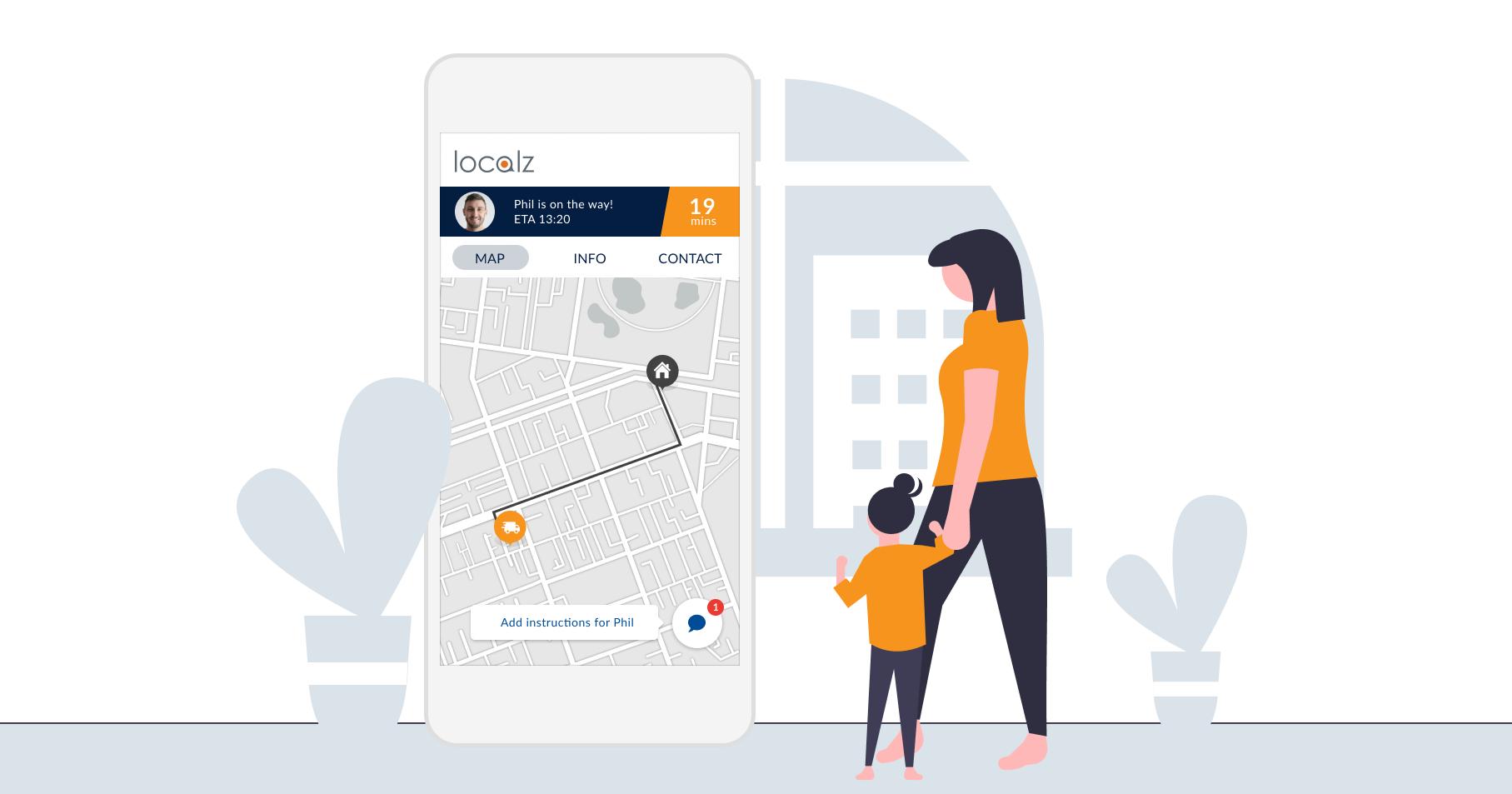 Localz web-based customer portal improves field service customer experience